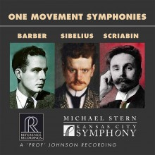 원 무브먼트 심포니스 / Samuel Barber; Alexander Scriabin, Jean Sibelius One Movement Symphonies / CD